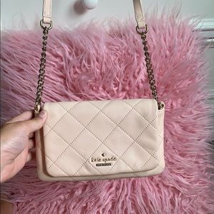 Kate Spade Quilted Light Pink Crossbody